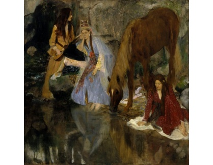 VR6-84 Edgar Degas - Portrét Mlle Fiocre v baletu La Source