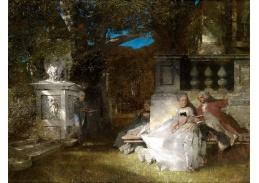 SO XII-10 Albert von Keller - Scéna z parku