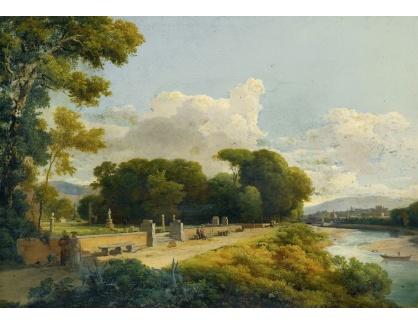 Krásné obrazy IV-497 Neznámý autor - Florencie při pohledu na východ podél řeky Arno