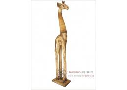 Axin Trading Žirafa stojící textura bílá