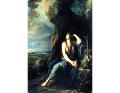 Krásné obrazy II-262 Juan Carreno de Miranda - Kajícná Magdaléna