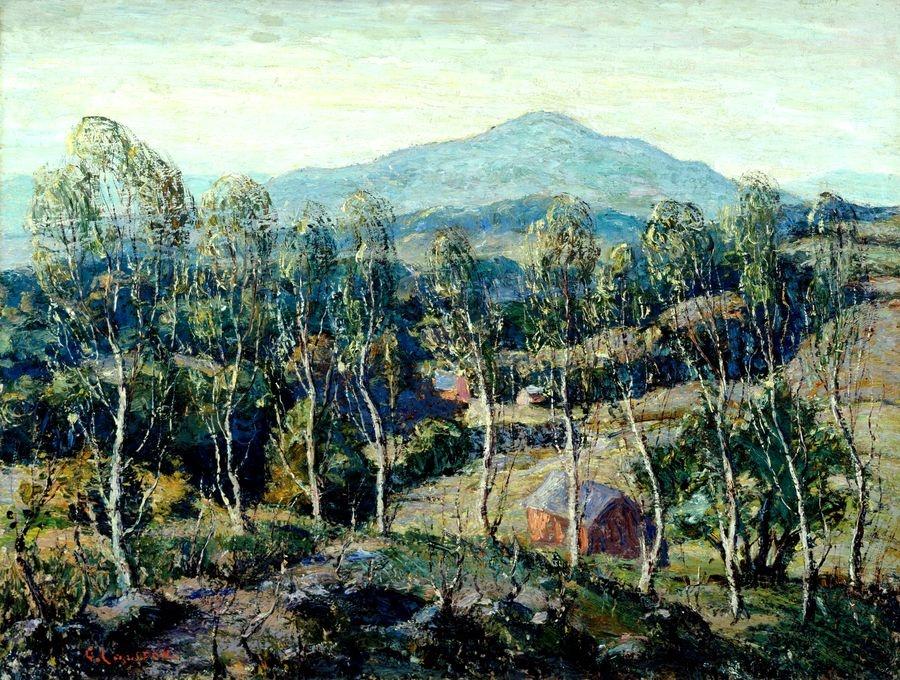 Krásné obrazy III-101 Ernest Lawson - Břízy v Nové Anglii