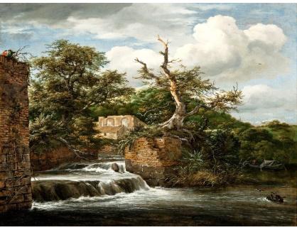 KO III-184 Jacob van Ruisdael - Krajina se zříceninou mlýna