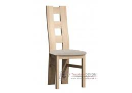 Jídelní čalouněná židle I kraft zlatý / látka krémová
