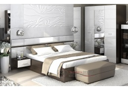 VEGAS, ložnicová sestava nábytku, wenge / bílý lesk