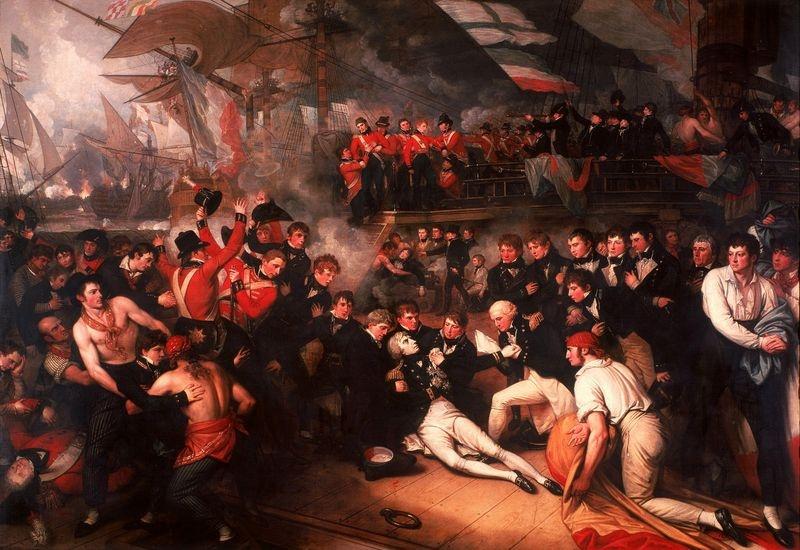 Slavné obrazy XI-109 Benjamin West - Nelsonova smrt