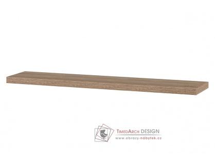 P-005 SON1, nástěnná polička 80cm, dub sonoma