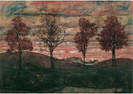 D-7138 Egon Schiele - Čtyři stromy