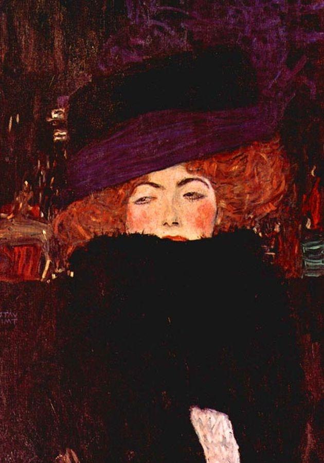 R3-19 Gustav Klimt - Dáma s kloboukem a péřovým boa