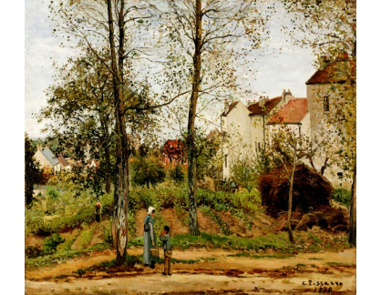 VCP-331 Camille Pissarro - Domy na Bougival