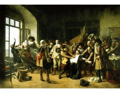 VCM 376 Václav Brožík - Defenestrace pražská 23 května 1618
