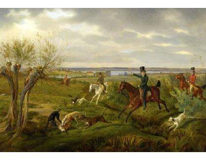 Slavné obrazy XVI-77 Albrecht Adam - Hon na lišku