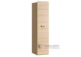 LIMO L02, šatní skříň, jasan coimbra / zelená