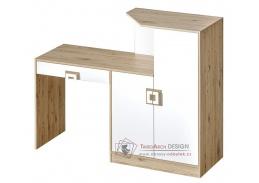 Pracovní stůl s komodou NIKO 11 dub jasný / bílá
