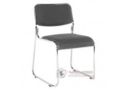 BULUT, konferenční židle, chrom / síťovina šedá