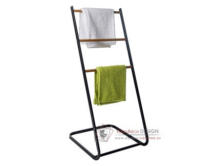 ZONKER, sušák na prádlo, černá / přírodní