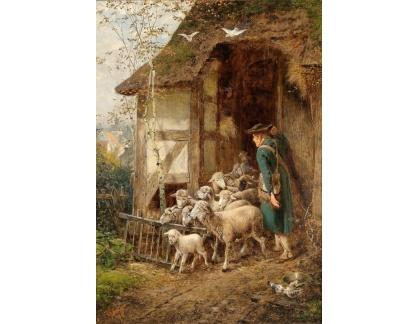 Slavné obrazy XVII-191 Fritz Beinke - Pastýř