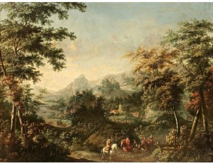 KO III-224 Johannes Jacob Hartmann - Krajina s lovci na konich