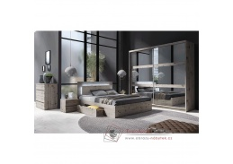 TOGOS, ložnicová sestava nábytku, dub welington