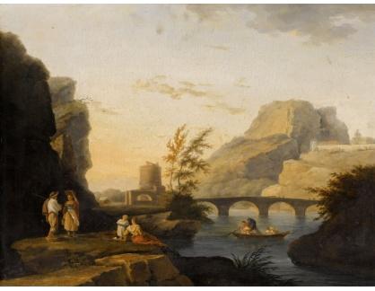 KO III-246 Joseph Vernet - Krajina s postavami u řeky a rybáři