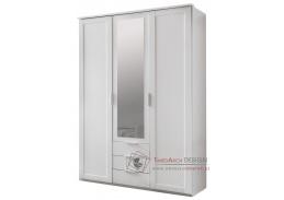 MARGITA 564, šatní skříň 3-dveřová se 3-mi zásuvkami 135cm 3D3S, bílá