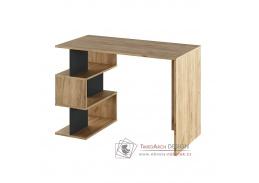ABES, počítačový stůl, dub artisan / grafit