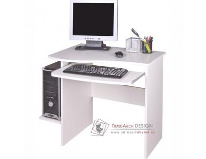 MELICHAR, počítačový stolek, bílá