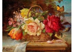 DDSO-2283 Hans Zatzka - Zátiší s květinami a motýlem