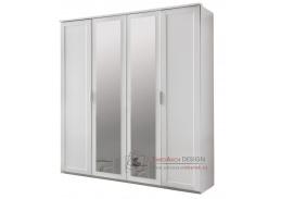 MARGITA 568, šatní skříň 4-dveřová 180cm, bílá