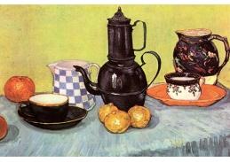 Vincent van Gogh - Zátiší s konvicí, nádobím a ovocem, 90x60cm