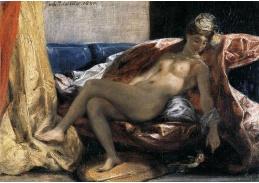 VEF 02 Eugene Ferdinand Victor Delacroix - Žena s papouškem