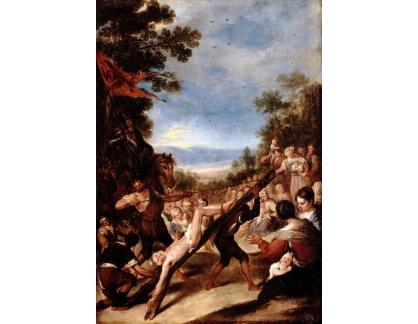Krásné obrazy II-257 José Claudio Antolinez - Ukřižování svatého Petra