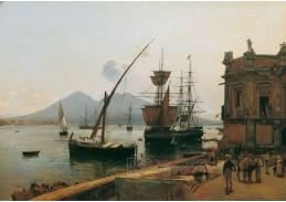D-7615 Rudolf von Alt - Neapolský přístav s Vesuvem