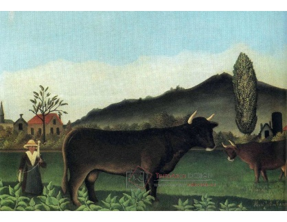 VF48 Henri Rousseau - Krajinomalba s krávou