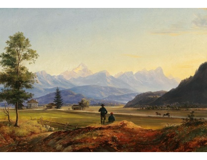 Slavné obrazy IX DDSO-902 Marcus Pernhart - Pohled na Triglav a Mittagskogel