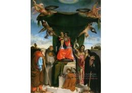 SO IV-19 Lorenzo Lotto - Madonna na trůnu s anděly a světci