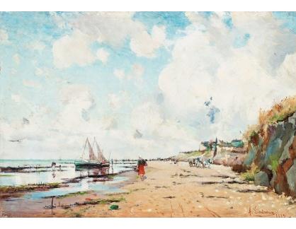 Slavné obrazy XVI-289 Axel Lindman - Pobřeží Villerville