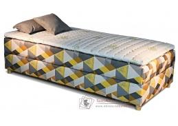 NOVO, čalouněná postel - boxspring 90x200cm, bez čel