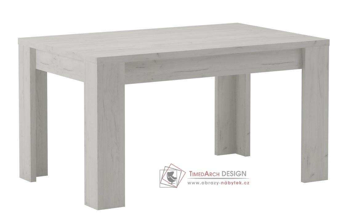 Jídelní stůl rozkládací 120x80 cm INDIANAPOLIS jasan bílý