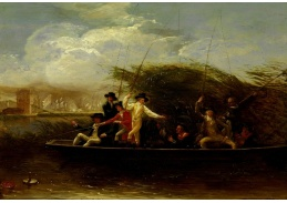 Slavné obrazy XI-102 Benjamin West - Rybaření
