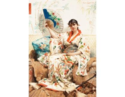 Krásné obrazy II-309 Leon Francois Comerre - Japonka