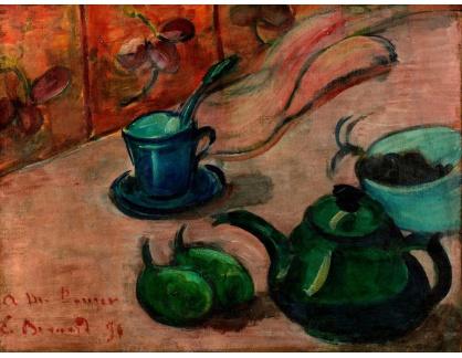 KO III-97 Emile Bernard - Zátiší s čajovou konvicí, pohárem a ovocem