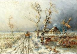 D-9532 Julius Sergius Klever - Zasněžená krajina