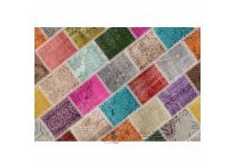 ADRIEL 1, koberec 80x150cm, vícebarevný patchwork