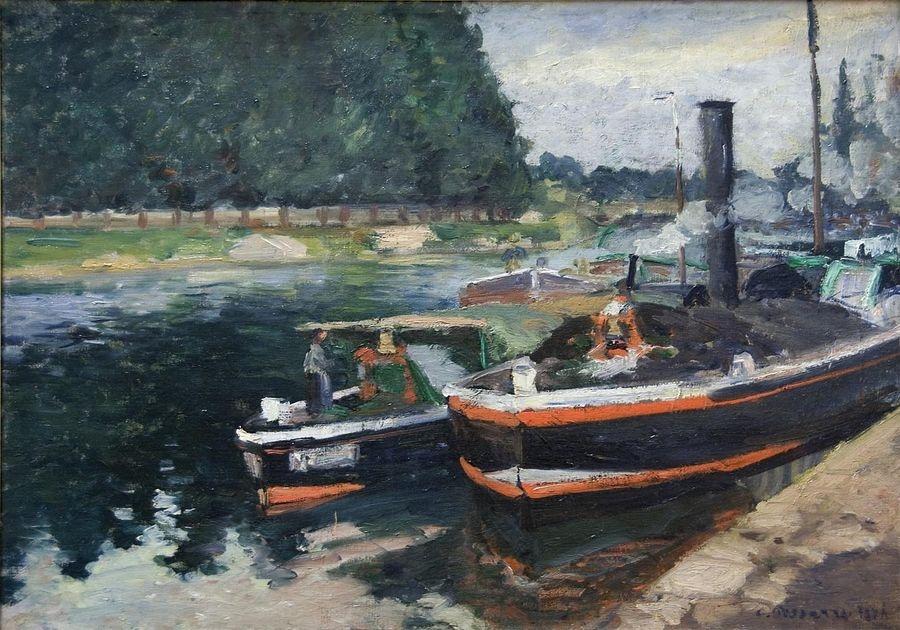 VCP-110 Camille Pissarro - Čluny na Pontoise