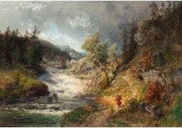 Slavné obrazy XVI-130 Alfred Wahlberg - Letní krajina