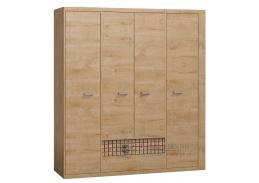 NATURAL N03, šatní skříň 195,5cm, dub ribbeck / vlnka