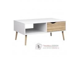 OSLO 75384, konferenční stolek, bílá / dub sonoma