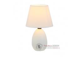 QENNY, keramická stolní lampa typ 12, bílá