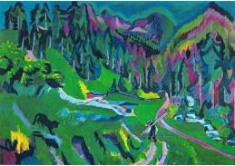 VELK 109 Ernst Ludwig Kirchner - Krajina v Sertigtal